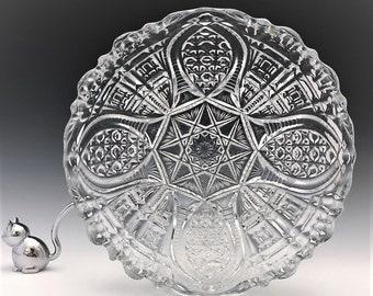EAPG Bowl - John B. Higbee and Company - Fortuna (OMN) - Early American Pattern Glass - Circa 1913
