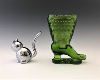 L.E. Smith Heritage Boot (No. 21) Toothpick Holder - Antique Green