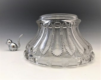 EAPG Punch Bowl Base - No. 500 The Prize Pattern - National Glass Company - McKee and Bros - Early American Pattern Glass (EAPG) - c. 1901