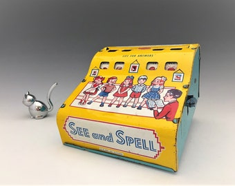 Vintage See and Spell Toy - Wolverine Toy Company