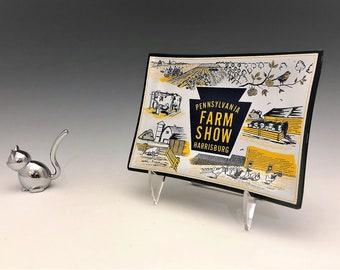 Pennsylvania Farm Show - Harrisburg - 1960's Glass Advertising Plate - Keystone International Livestock Exposition