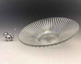 Heisey Ridgeleigh Bowl - Mid Century Glass Bowl - 10 Inch Bowl