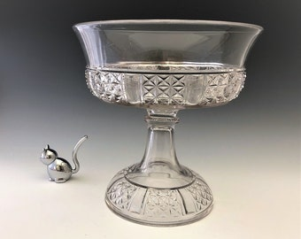 EAPG Compote - Dalzell Brothers and Gilmore Glass Company No. 17D (OMN) - AKA Six Panel Fine Cut - Early American Pattern Glass - Circa 1885