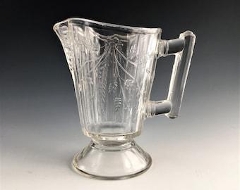 Beautiful EAPG Creamer - Bryce Brothers Glass - Duquesne Pattern (OMN) - AKA Wheat and Barley - Circa 1880's - Early American Pattern Glass