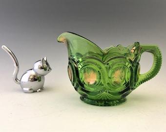Beautiful EAPG Creamer - U.S. Glass Company - AKA Running Bull's Eye - Circa 1905 - Early American Pattern Glass