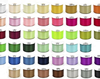 50 mm wide satin ribbon coupons several lengths to choose from low price!
