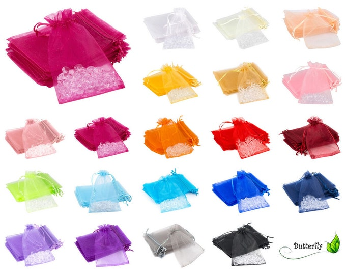 Featured listing image: 10 pieces Organza bag / organza bag 7x9cm