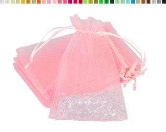 10 pieces Organza bag / organza bag 7x9cm