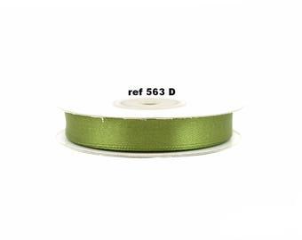 12 mm-bobine de 25 metres de ruban satin KAKI 563d 04f5fd9ab3d