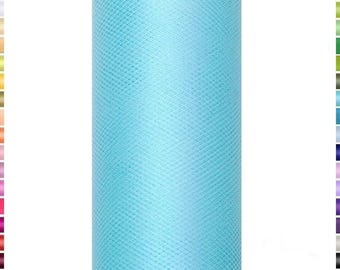 9 meters of turquoise blue Tulle in 15 cm wide sold by the spool