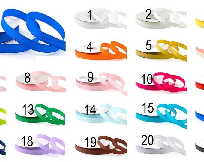 Grosgrain ribbon 10 mm, 25 m long, in a roll