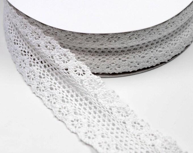 55 mm strip lace in white cotton 100% cotton several colors