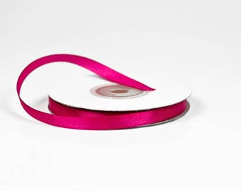 6 mm reel of 25 meters of satin ribbon pink FUCHSIA ref 183D