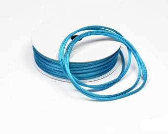 colour dark TURQUOISE 2 mm thick Rattail coil 10 m