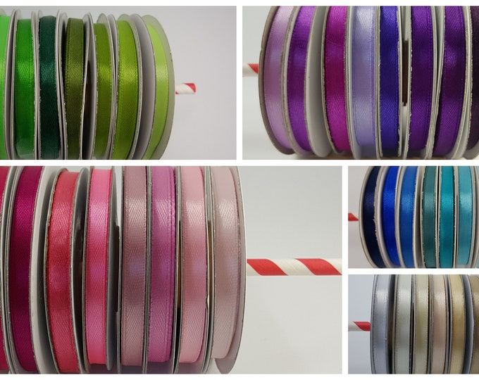 Lot of 8 reels of tape 6 mm wide and 25 m long or 200 meters of ribbons per batch of color of the lot of choice