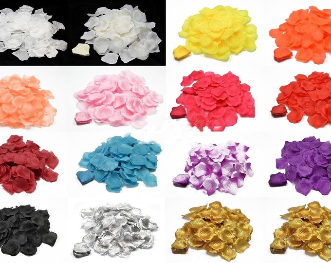 100 pieces of artificial rose petals