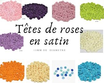 Roses en satin