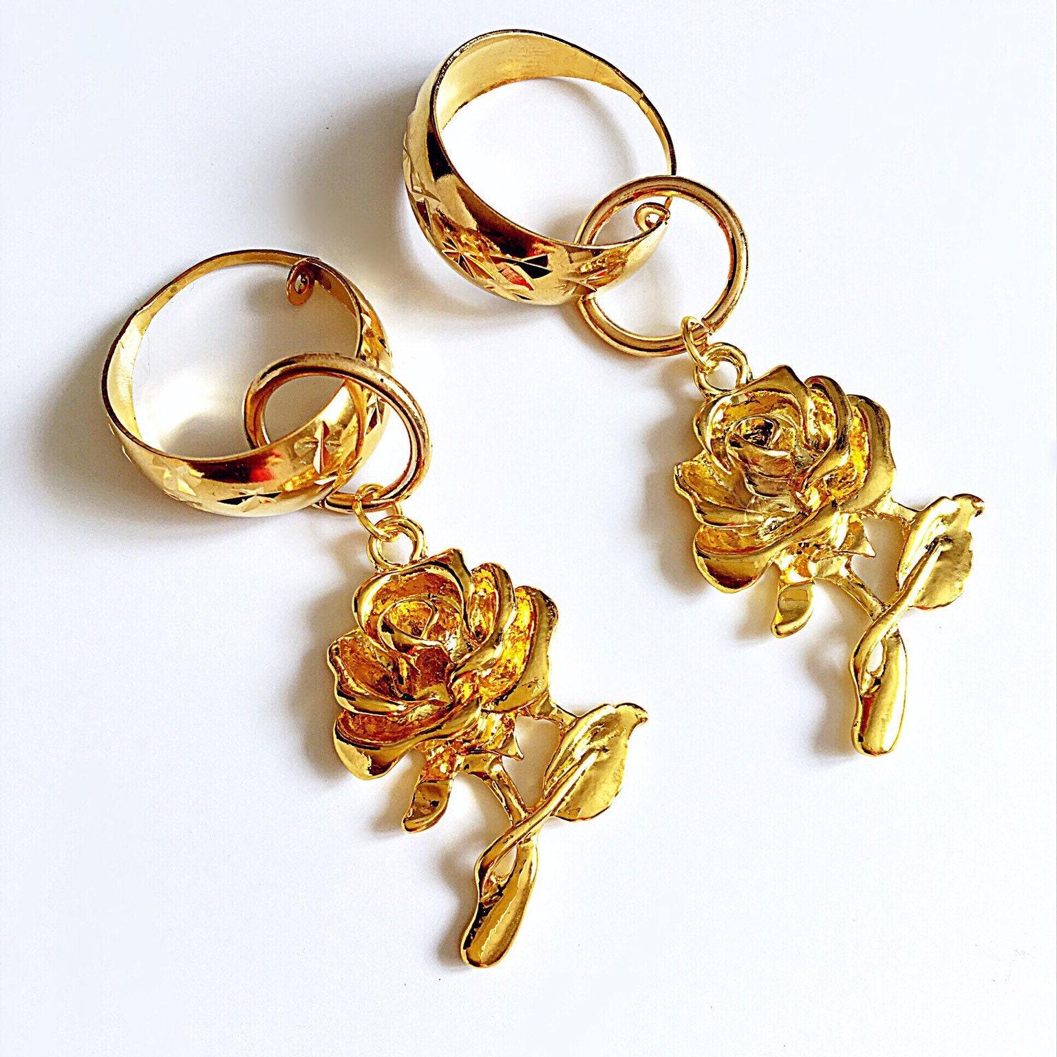 Small Hoop Silver French horn earrings handmade boho hippie y2k 90s 00s stylish cute  hoop pendant earrings