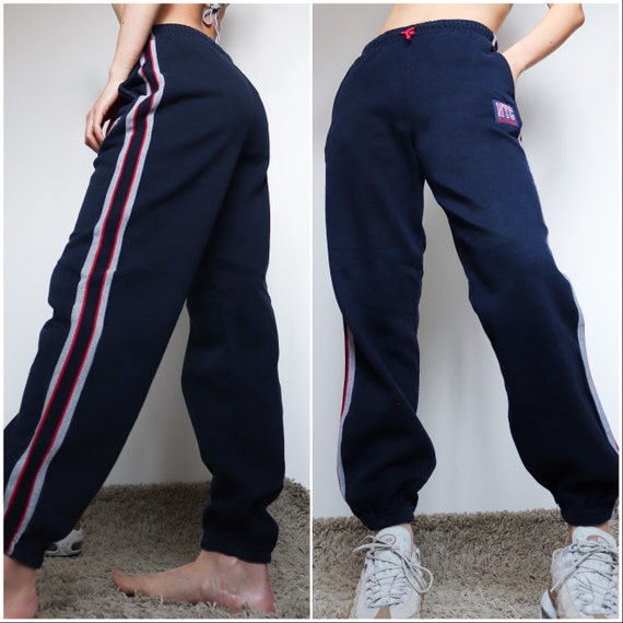 90s y2k 00s vintage blue navy nyc jogger sporty co