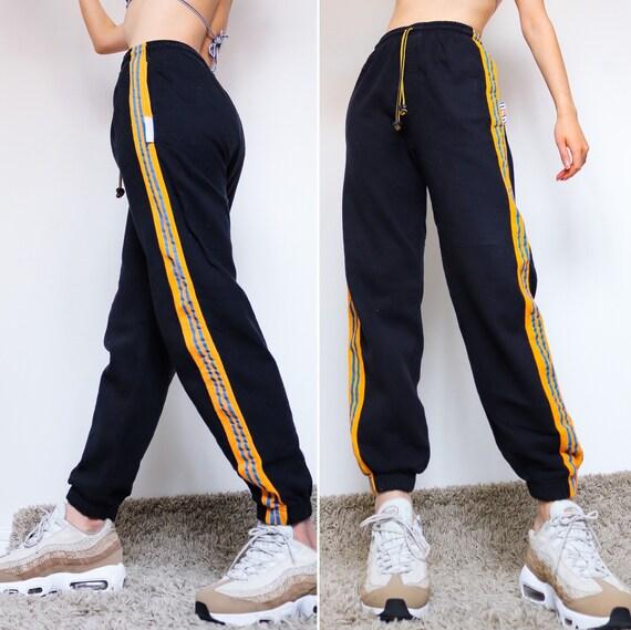 90s y2k 00s 90s Y2K 00s vintage black jogger orang