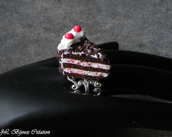 Ring Fimo Black Forest cake