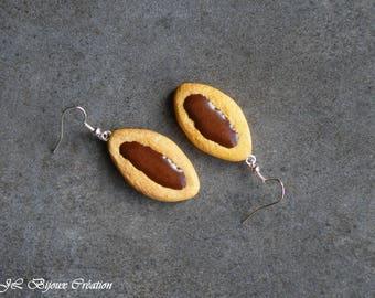 Fimo chocolate cookie earring