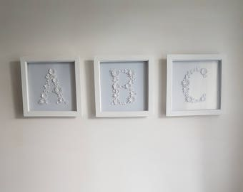 Framed 3D Paper Flowers - The ABC edition