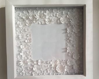 Framed 3D Paper flowers