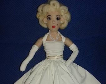 Needle Felted Marilyn Monroe
