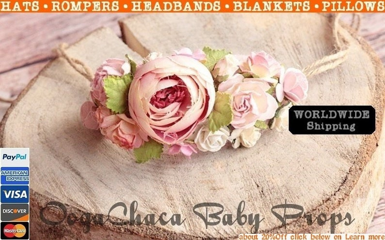 Baby Girl Headband Pink Tieback Children Headband Baby Tieback Flower Headband Newborn Tieback Flower Tieback Tieback