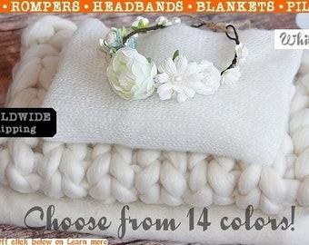 Newborn Wrap, Baby Wrap, Wool Fluff, Newborn Wool Fluff, Baby Wool Fluff, Baby Hair Wreath, Baby Girl Wreath, Newborn Photo Prop