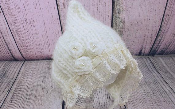 15 % de réduction   Elf nouveau-né chapeau, chapeau bébé fille elfe, nouveau -né Photo ... ac721d28c50