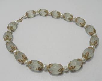 Vintage Large Cut Bead Necklace