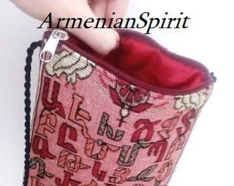 Armenian alphabet Money clip brass handmade armenian men gift | Etsy