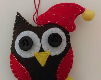 Owl Felt Christmas Tree Decoration
