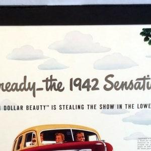 Wall-Art Vintage Nash Ambassador Magazine Advertisement Mounted for Framing Travel-Art 1940s Automobile-Art