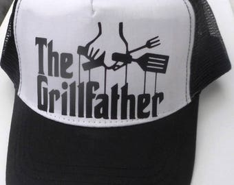 a226a26daf7 GRILLFATHER Mesh Trucker   Rapper CAP. Quality Adult size hat. Great  Novelty Funny Birthday Christmas Gift Present BBQ Barbecue chef cook.
