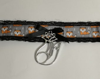 Orange Made to Order White /& Grey Foxes Pup Style Adjustable Fox Buckled PuppyKitten Play Puppyplay Kittenplay DDLG BDSM Buckle Collar