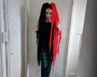 Ismini Hair Falls (Black & red)
