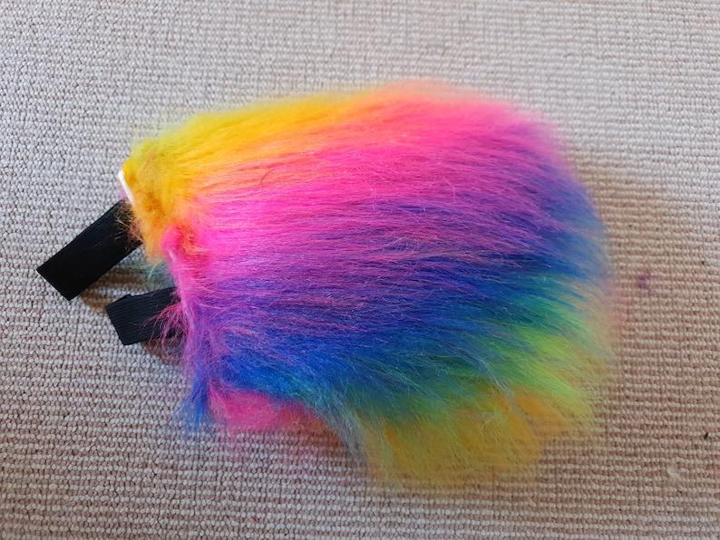 Rainbow Bunny Tail