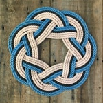 High Tide Rope Wreath, Upcycled lobster rope, Maine made, Nautical wreath, Beach house decoration, Rope knot wreath