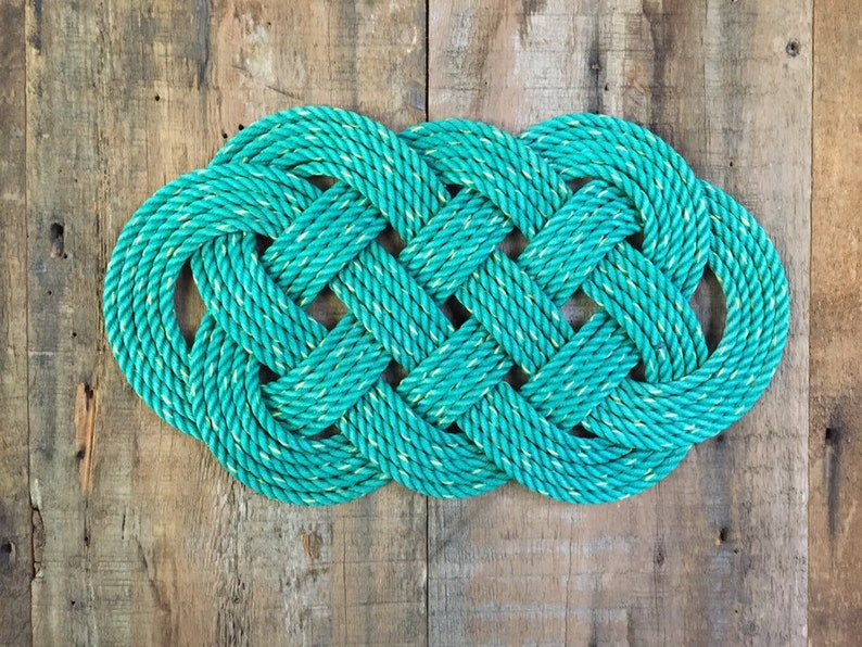 Wall and Door Hanging Celtic rope knot Nautical wall art image 0