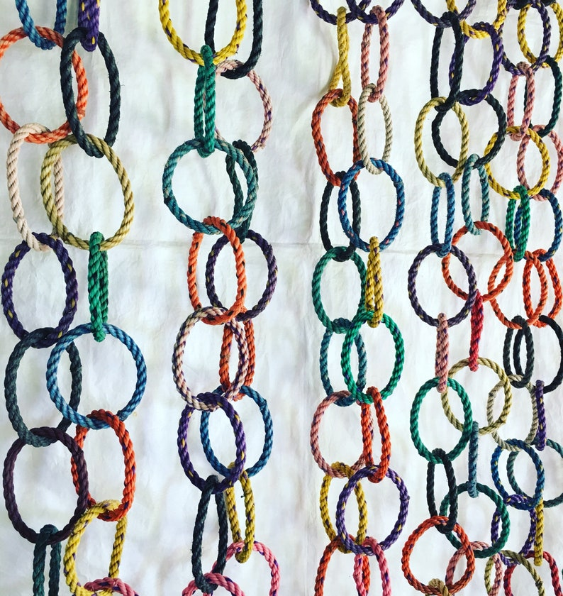 9' Festive rope garland nautical tree trimming reclaimed image 0