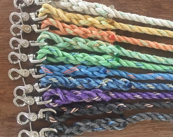 6' Rope dog leash, rope leash, Maine made, Nautical dog lead, Dog gift, Upcycled lobster rope, Assorted colors
