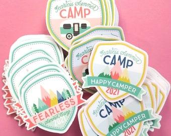 3 Sticker Bundle - Fearless Summer Camp | Vinyl Sticker | Laptop Sticker | Water Bottle Sticker