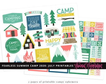 2020 Fearless Summer Camp July Printables