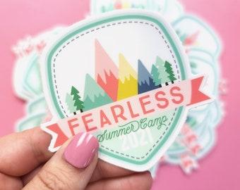 Fearless Summer Camp Sticker | Vinyl Sticker | Laptop Sticker | Water Bottle Sticker