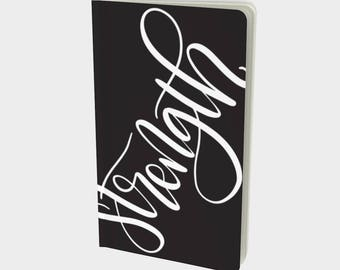 Handlettered Word of the Year Notebook