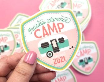Fearless Summer Camp Camper Sticker | Vinyl Sticker | Laptop Sticker | Water Bottle Sticker