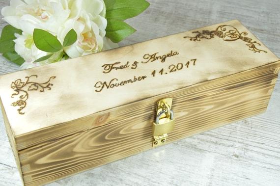 Personalized Wine Box Custom Keepsake Time Capsule Wedding Etsy